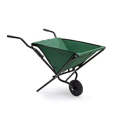 Chariot de jardin brouette pliable - Acier et tissu - 30 kg - 50 litres - Ravydays
