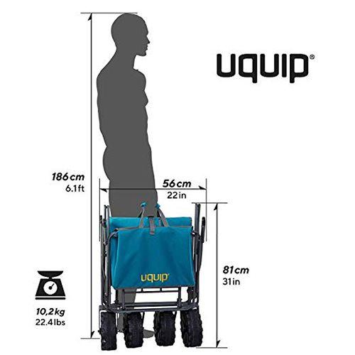 Dimensions du chariot de jardin plié 100 kg / 200 litres - Uquip Buddy