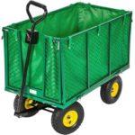 Chariot de jardin remorque 300 kg 200 litres 4 roues - Tectake