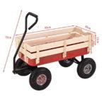 Chariot de jardin remorque en métal et bois Hand Trolley21