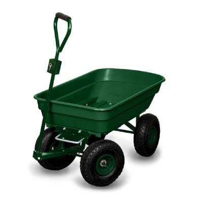 Chariot de jardin remorque avec bac plastique et chassis acier - OSE