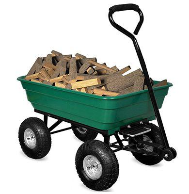 Chariot de jardin Deuba 101496 - 300 Kg - 4 roues gonflables