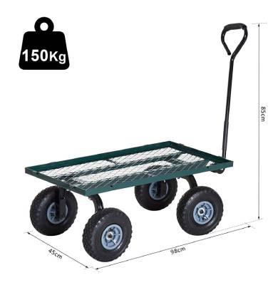 Remorque de jardin en métal Outsunny B71-015 - 150 kg